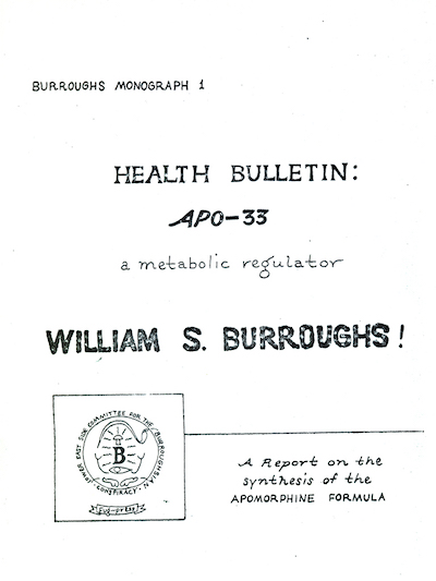 William Burroughs, APO-33, Fuck You Press