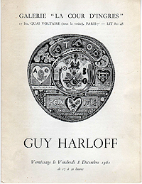 Guy Harloff, Exhibition Catalogue, 1961, front