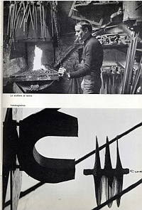 Takis catalogue, Galleria Schwarz, 1962, Takis in studio