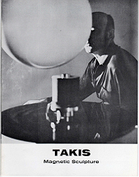 takis, magnetic sculpture, exhibition catalogue, 1967, cover