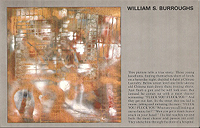 William Burroughs exhibit postcard, Klein Gallery, 1988