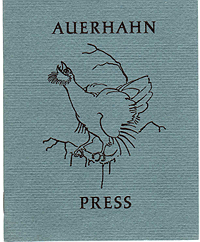Auerhahn Press Catalog, 1962, Front