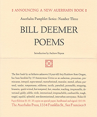 Bill Deemer, Poems, Announcement