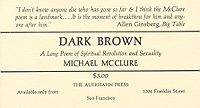 Micheal McClure, Dark Brown, announcement