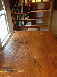 Charles Olson's table