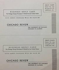 Chicago Review Subscription Card