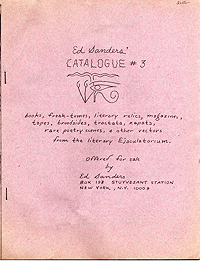 Ed Sanders' Catalogue 3