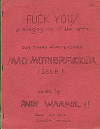 Fuck You, A Magazine of the Arts, Volume 5, Number 8 (1965)