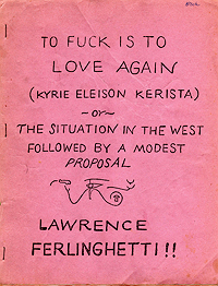Lawrence Ferlinghetti, To Fuck Is to Love Again