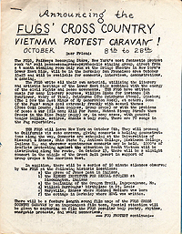 Fugs Cross-Country Caravan Flyer