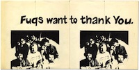 Fugs Want to Thank You poster