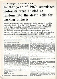 In That Year of 1969, Astonished Motorists Were Hustled at Random into the Death Cells for Parking Offenses