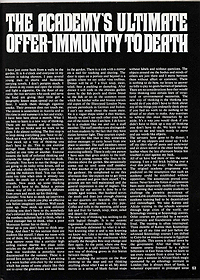 The Academy's Ultimate Offer -- Immunity to Death