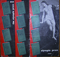 Olympia Press Catalog, 1959, Front cover