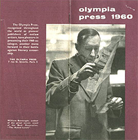 Olympia Press Catalog, 1960, Front Cover