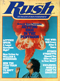 Rush, October 1976, front cover