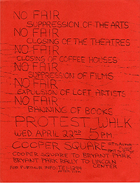 No Fair Handbill, 22 April 1964