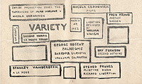New York Poets Theatre Variety Program, 1962