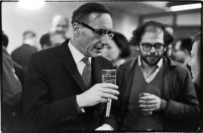 William Burroughs and Allen Ginsberg at Grove Press book launch party, 22 December 1964  (photograph by Fred McDarrah)