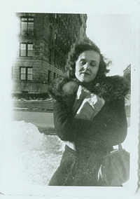 Joan Vollmer Burroughs in New York, 1944, Photograph by Allen Ginsberg