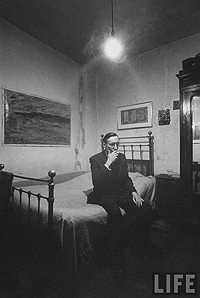 Burroughs at the Beat Hotel in 1959, Photograph from Time-Life Archive