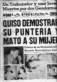Death of Joan Vollmer Burroughs in La Prensa
