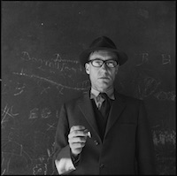 Harriet Crowder, Portrait of a Man (William S. Burroughs), 1960