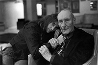 Patti Smith and William Burroughs, photograph by Allen Ginsberg