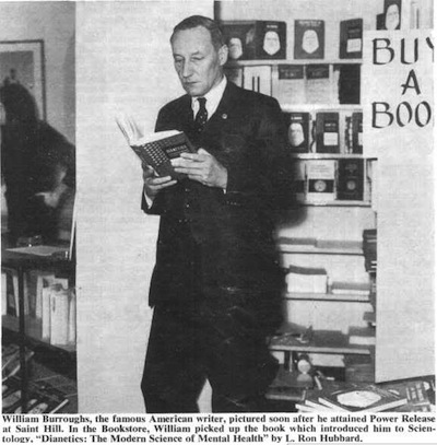 William S. Burroughs at the Saint Hill Scientology Bookstore, 1968