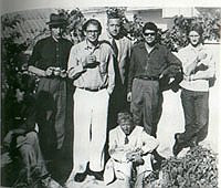 William Burroughs, Paul Bowles, and Allen Ginsberg in Tangier