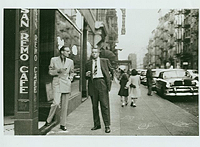 William Burroughs and Alan Ansen outside the San Remo, 1953. Photo by Allen Ginsberg