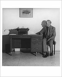 William Burroughs and his Typewriter, Photograph by Robert Mapplethorpe
