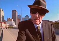 William Burroughs in U2 video