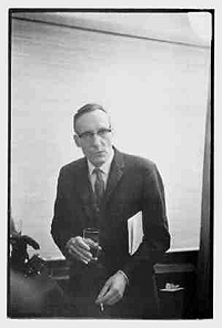 William Burroughs at Grove Press book party in 1964