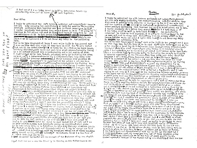 William S. Burroughs, Drafts of Letters