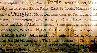 Cities mentioned in Naked Lunch