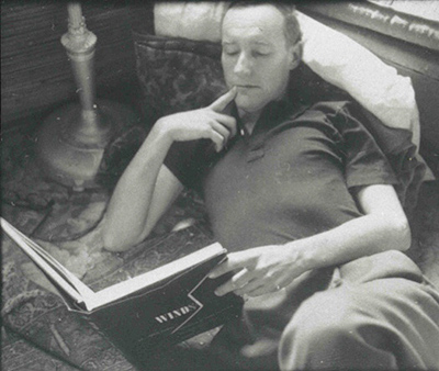 William Burroughs reading St John Perse's WINDS, photograph by Allen Ginsberg