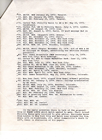 Index to Burroughs-Balch Correspondence, Page 2
