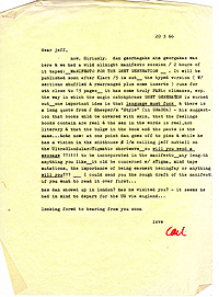 Letter, Carl Weissner to Jeff Nuttall, 20 March 1966