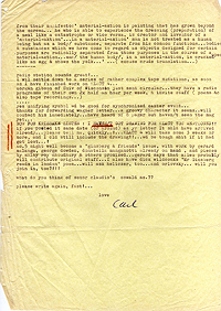 Letter, Carl Weissner to Jeff Nuttall, 3 October 1966