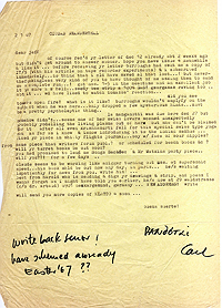 Letter, Carl Weissner to Jeff Nuttall, 2 January 1967