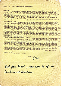 Letter, Carl Weissner to Jeff Nuttall, 28 March 1967