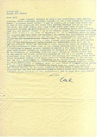 Letter, Carl Weissner to Jeff Nuttall, 9 April 1967