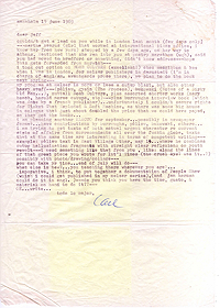 Letter, Carl Weissner to Jeff Nuttall, 19 June 1969