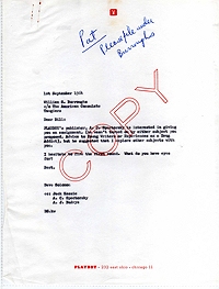 Letter from David Solomon to William Burroughs, 1 Sept 1964