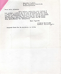 Letter from William Burroughs to David Solomon, 9 Nov 1964