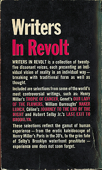 Writers in Revolt, 1965, back