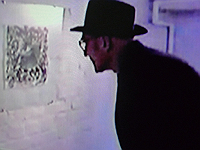 Excerpt from 1990 film by Alfred 23 Harth showing Burroughs looking at his own work