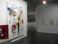 Installation view: Burroughs and Basquiat