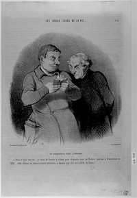 Daumier, The Book Lover in Heaven